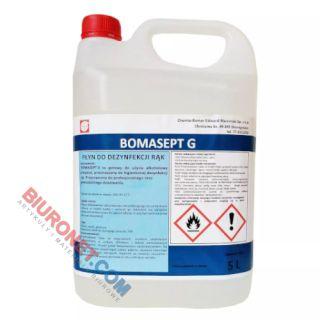 Płyn do dezynfekcji rąk Bomasept G, alkohol 70% i gliceryna 5%, medyczny