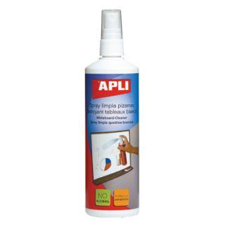 Płyn do tablic suchościeralnych APLI, spray czyszczący 250ml