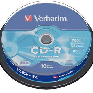 Płyta CD-R Verbatim 700 MB 52x. Cake 10 szt.