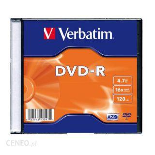 Płyta DVD-R Verbatim Slim 4,7 GB x16