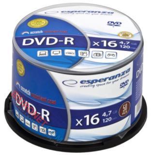 Płyty DVD-R Esperanza, 4,7GB, prędkość 16x