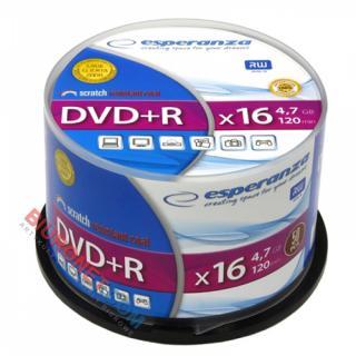 Płyty DVD+R Esperanza, 4,7GB, prędkość 16x