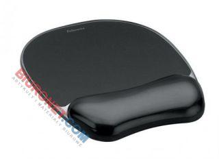 Podkładka pod mysz i nadgarstek Fellowes Crystal, ergonomiczna, żelowa czarna