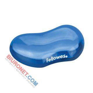 Podkładka pod nadgarstek Fellowes Crystal, żelowa, ergonomiczna niebieska