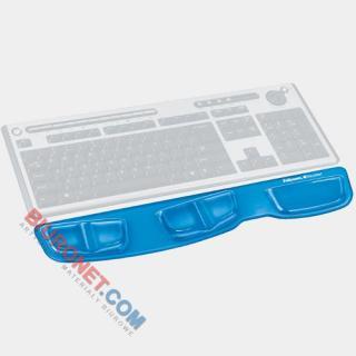 Podkładka przed klawiaturę Fellowes Health-V Crystal, żelowa, ergonomiczna