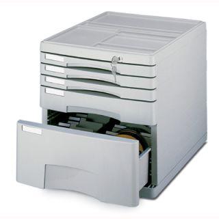 Pojemnik w metalowej obudowie z 5 szufladami (z pojemnikiem na płyty CD). Eagle
