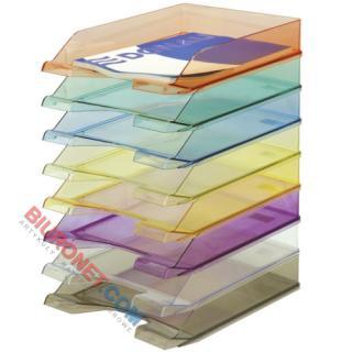 Półka na dokumenty A4 Donau, transparentna tacka biurkowa