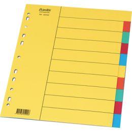 Przekładki kartonowe Bantex A4, kolorowe indeksy, bez karty opisowej