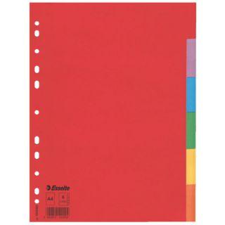 Przekładki kartonowe Esselte A4, kolorowe indeksy, bez karty opisowej