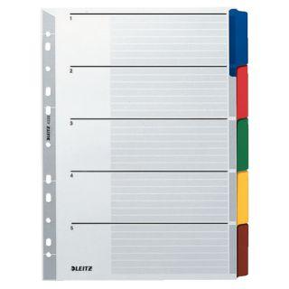 Przekładki kartonowe Leitz A4, karta opisowa i kolorowe indeksy