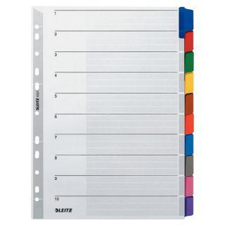 Przekładki kartonowe Leitz A4, kolorowe indeksy + karta opisowa