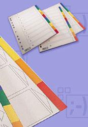 Przekładki plastikowe kolorowe, economy