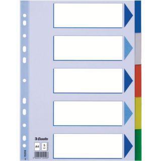 Przekładki plastikowe kolorowe. Esselte