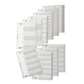 Przekładki plastikowe numeryczne 1-15
