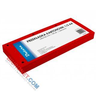 Przekładki podłużne Datura 1/3 A4, kartonowe 240x105 mm, 100 sztuk kolor czerwony