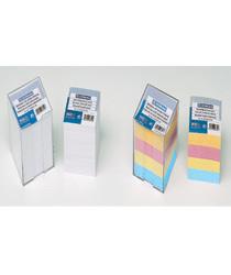 Przybornik kostka Datura, plastikowy, z białymi kartkami