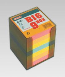 Przybornik kostka Datura, plastikowy, z kolorowymi kartkami