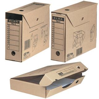 Pudełko archiwizacyjne Elba Tric, na zawartość segregatora A4