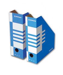 Pudełko kartonowe skośne A4, niebieskie. Donau. Archiwizacja