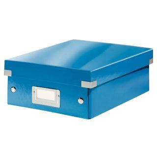 Pudełko z przegródkami Leitz Click&Store WOW A5, archiwizacyjne z pokrywą niebieskie