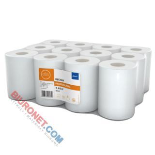 Ręcznik w rolce Lamix Ellis Professional 3070, biały papier celulozowy, 2-warstwowe, do dozowników 12 rolek x 60 m