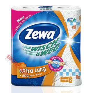 Ręczniki papierowe Zewa Wisch & Weg kuchenne, superchłonne, biały papier celulozowy, 2-warstwowy 2 rolki x 72 listki