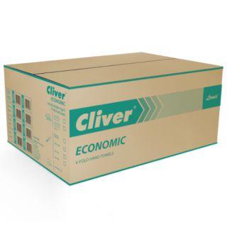 Ręczniki składane Lamix Cliver Economic 2226 typu V, szary papier makulaturowyy, 1-warstwowe, do dozowników 20 x 200 listków
