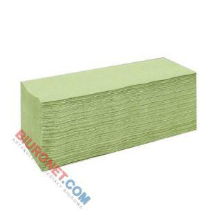 Ręczniki składane Lamix Cliver Economic 2240 typu V, zielony papier makulaturowyy, 1-warstwowe, do dozowników 20 x 200 listków
