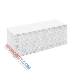 Ręczniki składane Lamix Cliver Economic 2271 typu V, biały papier makulaturowy, 1-warstwowe, do dozowników 20 x 200 listków