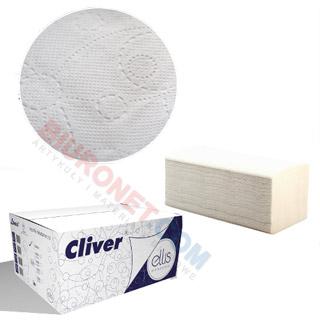 Ręczniki składane Lamix Ellis Professional typu V, biały papier celulozowy, 2-warstwowe, do dozowników 20 x 150 listków
