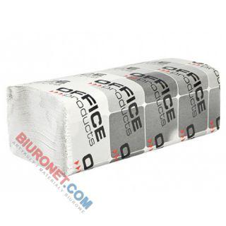 Ręczniki składane Office Products typu ZZ, biały papier makulaturowy 25g, 1-warstwowe, do dozowników 20 x 200 listków