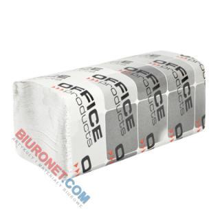 Ręczniki składane Office Products typu ZZ, biały papier makulaturowy 36g, 1-warstwowe, do dozowników 20 x 200 listków
