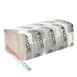 Ręczniki składane Office Products typu ZZ, szary papier makulaturowy 36g, 1-warstwowe, do dozowników 20 x 200 listków