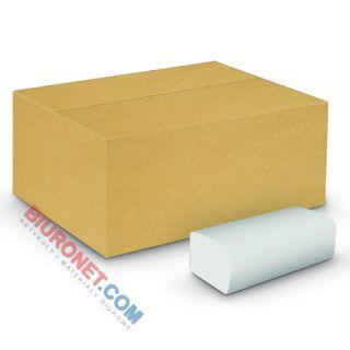 Ręczniki składane Velvet Economy Eco-White typu ZZ, biały papier celulozowy, 2-warstwowe, do dozowników 20 x 150 listków