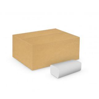 Ręczniki składane Velvet Professional Eco-White typu V, biały papier celulozowy, 2-warstwowe, do dozowników 20 x 150 listków