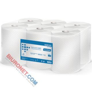 Ręczniki Velvet CARE Professional Maxi, w roli, do dozowników [2-warstwowe, białe, celulozowe]