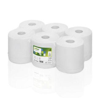 Ręczniki w rolce Wepa Satino Comfort PT1  317940, biały papier makulaturowy, 2-warstwowe, do dozowników 6 rolek x 150 m