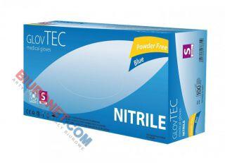Rękawice nitrylowe niebieskie lub czarne, bezpudrowe 100 sztuk