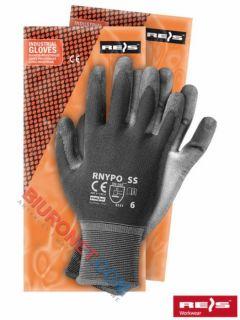 Rękawice robocze, RNYPO, powlekane poliuretanem, stalowo - szare