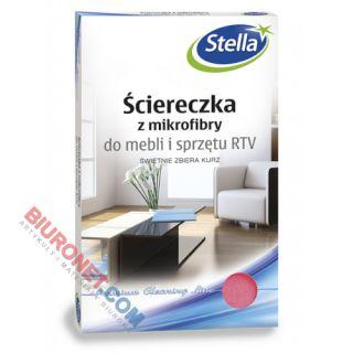 Ścierka z mikrofibry Stella Do Mebli i Sprzętu RTV 30x35 cm 1 sztuka