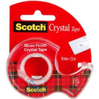 Scotch Crystal Tape, samoprzylepna błyszcząca taśma z podajnikiem #3M
