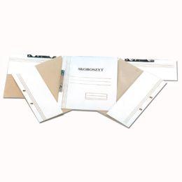 Skoroszyt kartonowy Kiel-Tech, hakowy, kolor biały, opakowanie 50 sztuk