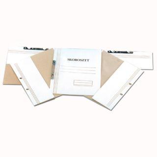 Skoroszyt kartonowy Kiel-Tech, oczkowy, kolor biały, opakowanie 50 sztuk