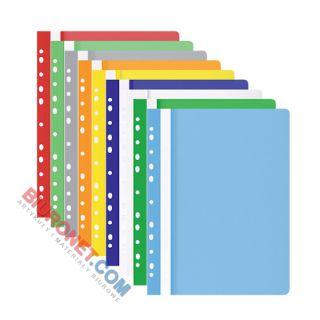 Skoroszyt wpinany Office Products A4, plastikowy 100/170 mikronów, miękki, opakowanie 25 sztuk biały