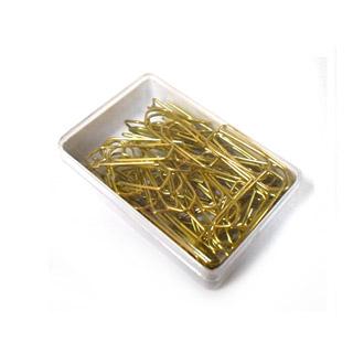 Spinacze złote 26 mm w pudełku plastikowym opk. 12 szt