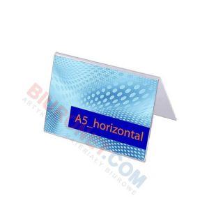 Stojak A5 akrylowy typu A, poziomy