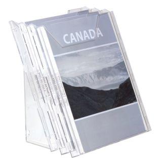 Stojak na ulotki Combiboxx 1/3 A4 na ścianę lub stół. Durable