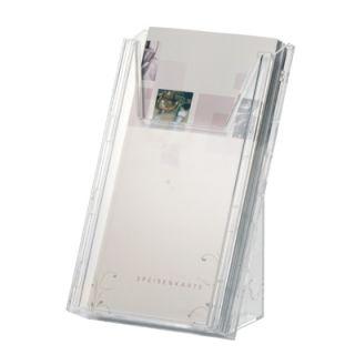 Stojak na ulotki, katalogi Combiboxx A4 L na ścianę lub stół. Durable