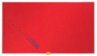 Tablica filcowa Nobo 41 x 72 cm, panoramiczna, rama aluminiowa czerwona