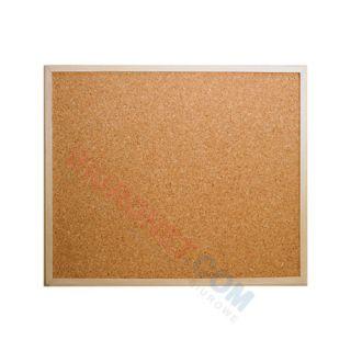 Tablica korkowa E&D Plastic, w ramie drewnianej